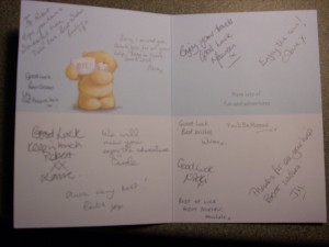 Going Away Card